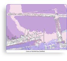 Crane in the landscape Canvas Print