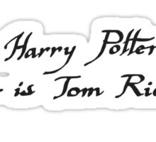 Harry Potter: My Name is Tom Riddle Sticker