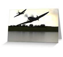 Spitfire morning Greeting Card