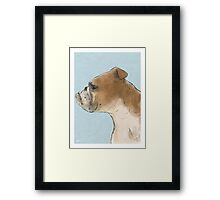 Bulldog Portrait Nº1 Framed Print