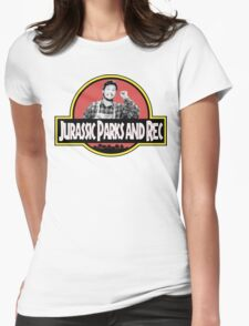 Jurassic Parks and Rec Womens Fitted T-Shirt