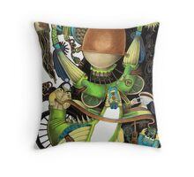 Electric Field Throw Pillow