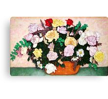 The Anniversary Roses Canvas Print