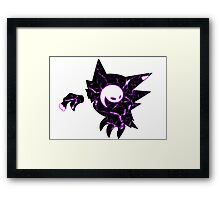 Pokemon Haunter ghost fracture Framed Print