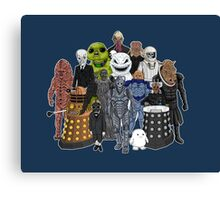 Doctor Who- Monsters Are Real Canvas Print