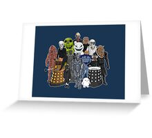 Doctor Who- Monsters Are Real Greeting Card