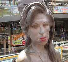 Amy Winehouse Statue (2), Stables Market, Camden, London by MagsWilliamson