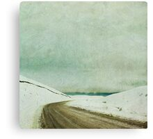 Snow Road Canvas Print