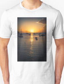 Sea Sunset Waves Unisex T-Shirt