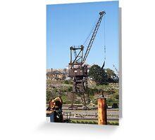 Old Crane Greeting Card