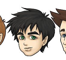 Trio Floating Heads by kelly42fox