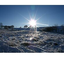 Sunrise over a snowy Britain Photographic Print