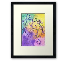 Pastel Flowers Framed Print