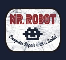 Mr Robot - Computer Repairs With A Smile Badge by OriginalApparel