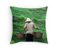 Roof Tiles and Rice Time Throw Pillow