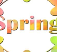 Spring Floral Abstract 41/  art + Product Design Sticker