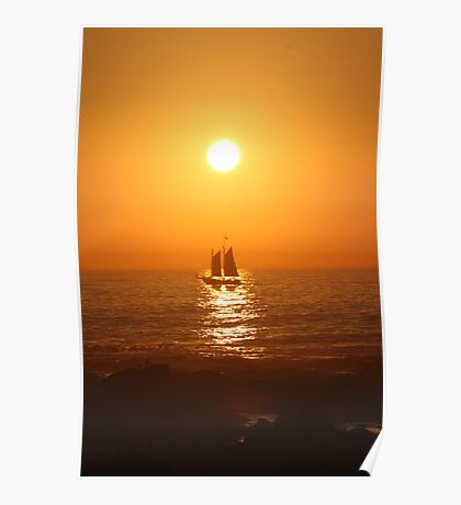 Cape Town Sunset Poster