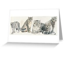 Snow Leopard Wrap Greeting Card