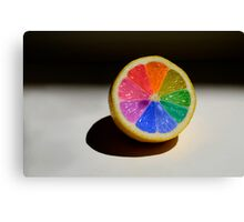 Lemon Colour Wheel Canvas Print