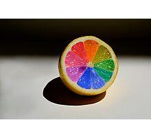 Lemon Colour Wheel Photographic Print