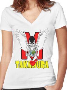 Hajime  No Ippo - Takamura Women's Fitted V-Neck T-Shirt