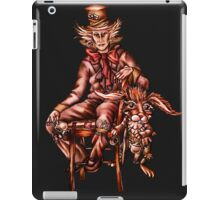 Mad Hatter with March Hare Drawing iPad Case/Skin