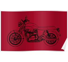 Triumph Bonneville T100 Motorcycle Poster