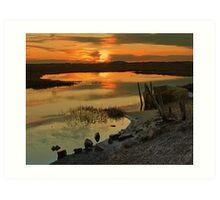Sunset in Rhode Island Art Print