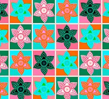 Daffodills Pop Art style pattern by Lenka24