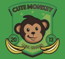 Cute Monkey One Piece - Short Sleeve