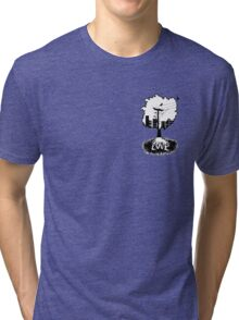 Rooted in love (small logo) Tri-blend T-Shirt