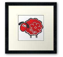 Kawaii Lucky Sheep Vector Illustration Framed Print