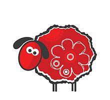 Kawaii Lucky Sheep Vector Illustration by EveStock
