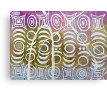 Geometric White Stacks Metal Print