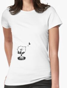 Rooted in love (small logo bottom corner) Womens Fitted T-Shirt