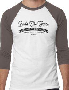 Build The Fence Men's Baseball ¾ T-Shirt