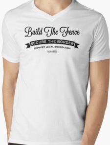 Build The Fence Mens V-Neck T-Shirt