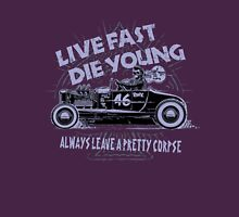 Hot Rod Live Fast Die Young - Purple (alpha bkground) T-Shirt