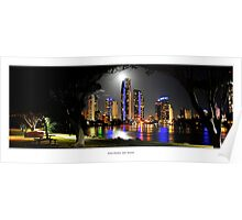 Moonlight Arch over Surfers Paradise Poster