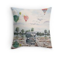 Reflections in a waterlogged field. Throw Pillow