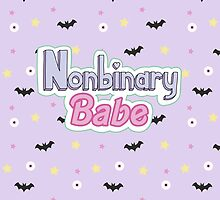 Nonbinary Babe (Text and pattern) by Moon-Kitten