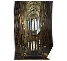 Cathedral in Cologne Germany - Interior Poster