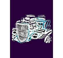 Hot Rod (inverted colours) (alpha bkground for dark tshirts) Photographic Print