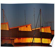 "City Life - ""Golden Ship-House"" Poster"