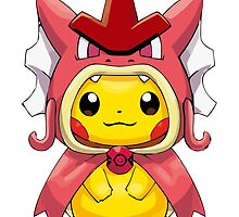 Pikachu Dressed as Shiny Gyarados by Eat Sleep Poke Repeat