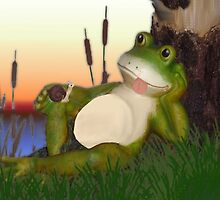 Frog and the Snail by Edmond  Hogge