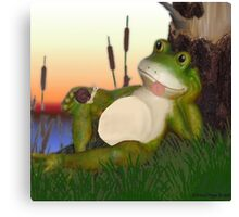 Frog and the Snail Canvas Print