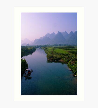 Fantacy on China Yulong River Art Print
