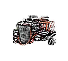 Hot Rod (alpha bkground for light tshirts) Photographic Print