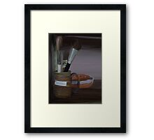 Pottery Brushes Framed Print